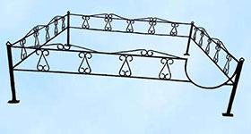 Ритуальная ограда «Катанка»