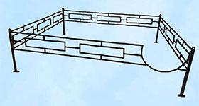 Ритуальная ограда «Квадрат»