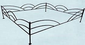 Ритуальная ограда «Волна»