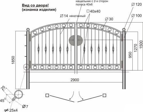 Эскиз -пример изготовления ворот